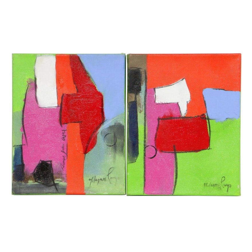 Milagros Pongo Abstract Oil Paintings