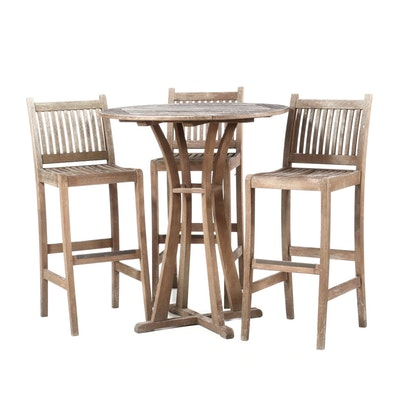 Arthur Lauer Brazilian Hardwood Pub Table and Barstools