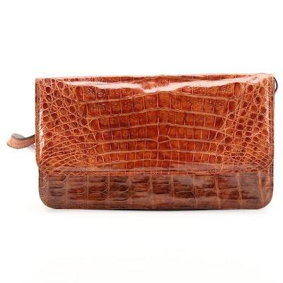 Caiman Skin Shoulder Bag, Vintage