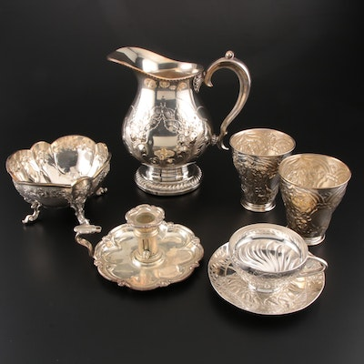W. & S. Blackinton Co. Silver Plate Pitcher, Reed & Barton Waste Bowl, and More