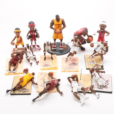 Lebron James Cleveland Cavaliers-Miami Heat Action Figures and Bobbleheads