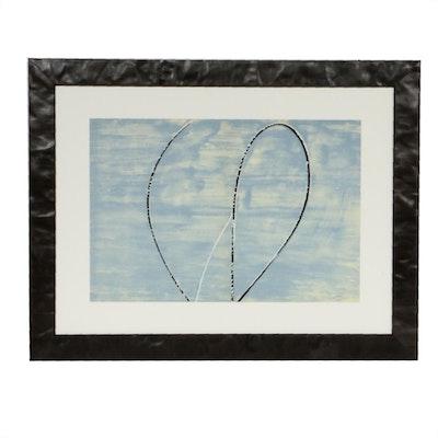 """François Fiedler Double Page Color Lithograph for """"Derrière le Miroir"""""""