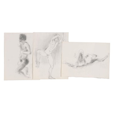John Tuska Graphite Figure Study Drawings