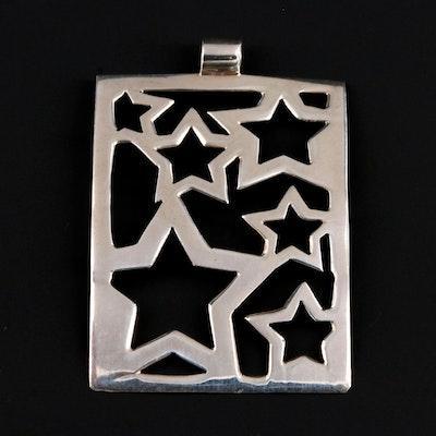 Sterling Silver Star Motif Pendant