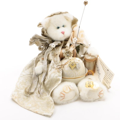 Lady Wigglesworth & Butterfly Sneezes Embellished Pin Cushion Bear