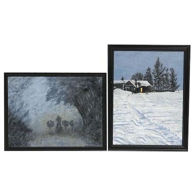 Zofia Wilamowska Landscape Acrylic Paintings