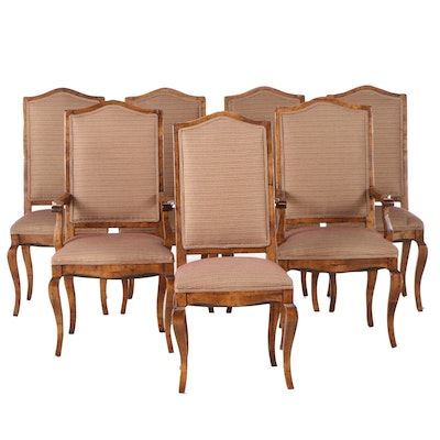 Seven Distressed French Provincial Style Dining Chairs, Contemporary