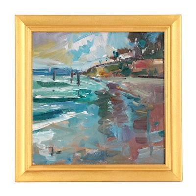 "Jose Trujillo Oil Painting ""At Sea"""