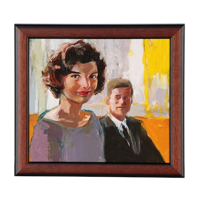"Adam Deda Oil Painting ""Jackie & John"", 2019"