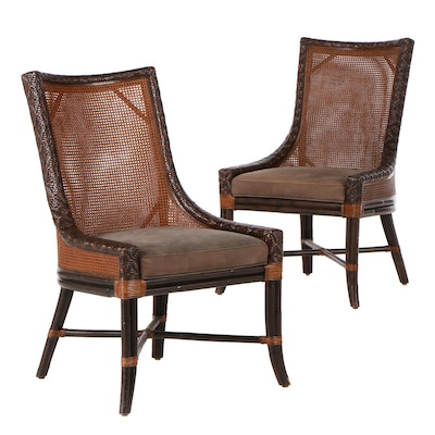 Artistica Rattan and Double-Caned Side Chairs, Contemporary