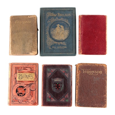 Antiquarian and Vintage Poetry and Drama Books Including Tennyson and Ibsen