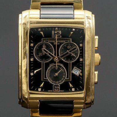 Daniel Steiger Deco Ceramic and Stainless Steel Quartz Chronograph Wristwatch