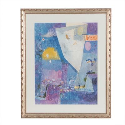 "Offset Lithograph after Henry Faulkner ""Kites of Spring"""