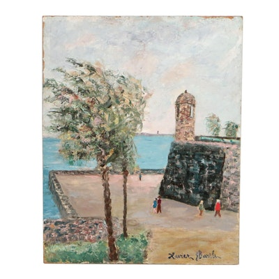 Xavier Barile Oil Painting of Coastal Scene