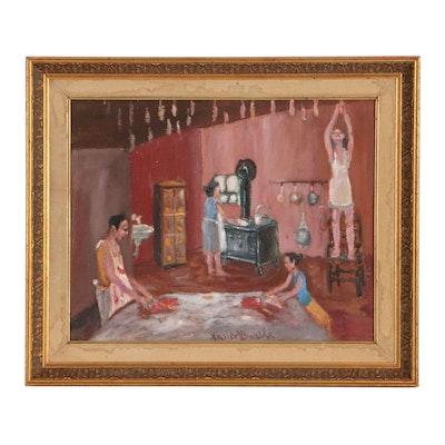 Xavier Barile Genre Scene Oil Painting