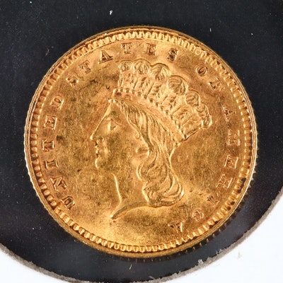 1862 Type III Indian Head Princess $1 Gold Coin