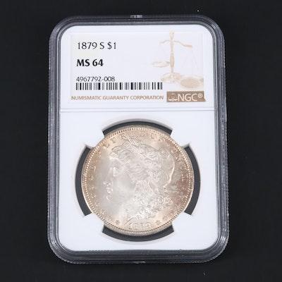 NGC Graded 1879-S Silver Morgan Dollar