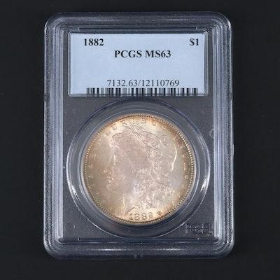 PCGS Graded MS63 1882 Silver Morgan Dollar