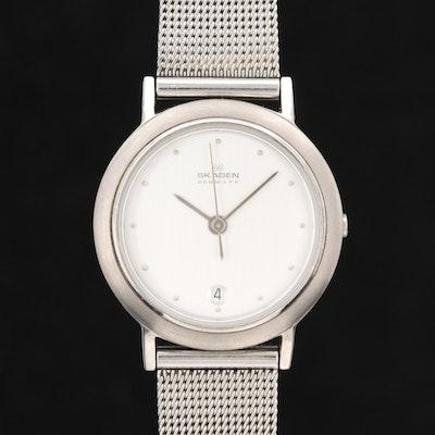 Skagen Ultra-Slim Stainless Steel Quartz Wristwatch