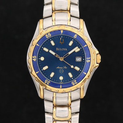 Bulova Marine Star Two Tone Quartz Wristwatch