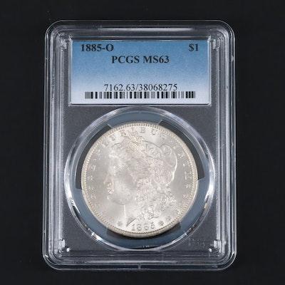 PCGS Graded MS63 1885-O Silver Morgan Dollar