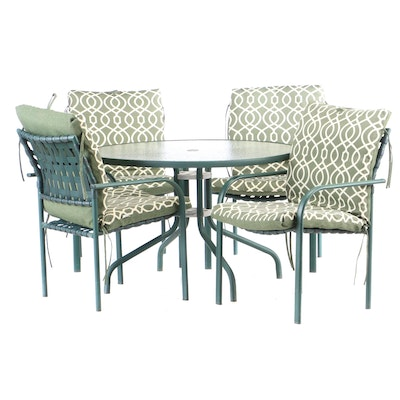 Metal Frame Patio Dining Set, Contemporary