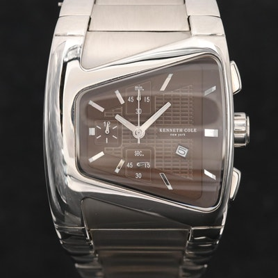 Kenneth Cole Stainless Steel Quartz Chronograph Wristwatch