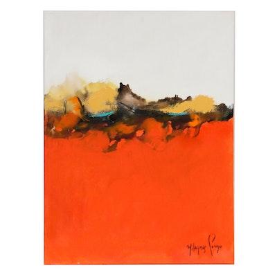 Milagros Pongo Abstract Mixed Media Painting