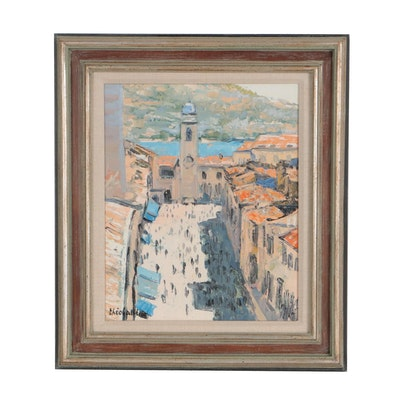 Renée Théobald Cityscape Oil Painting