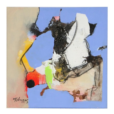 Milagros Pongo Abstract Oil Painting