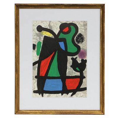 """Joan Miró Color Lithograph for """"Derrière le Miroir"""", 1970"""