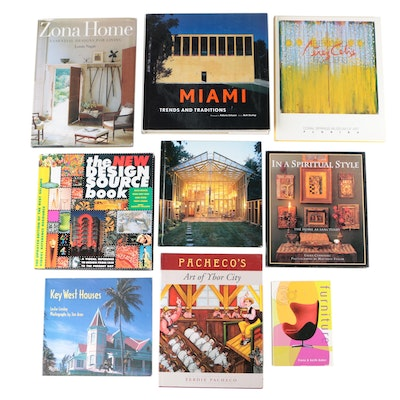"""Design, Furniture, and Art Books Including """"Miami: Trends and Traditions"""""""