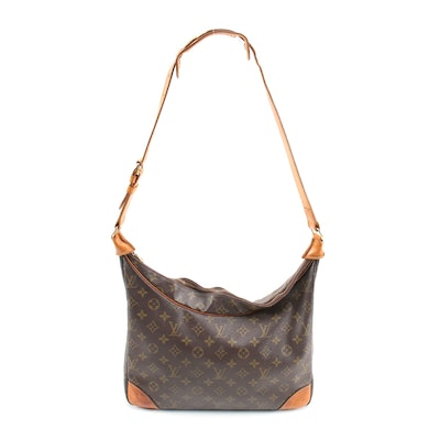 Louis Vuitton Boulogne Shoulder Bag in Monogram Canvas and Leather