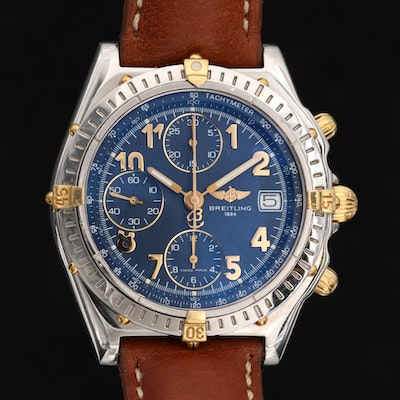 Breitling Chronomat 18K Gold and Stainless Steel Automatic Wristwatch
