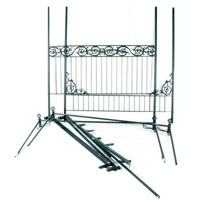 Victorian Style Cast Iron King Canopy Bed
