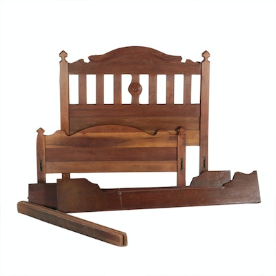Victorian Walnut Bed Frame, Late 19th Century