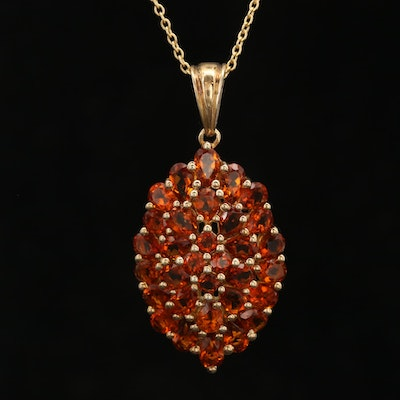 Sterling Silver Citrine Pendant Necklace
