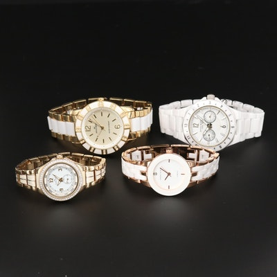 Assorted Anne Klein Gold Tone and Ceramic Quartz Wristwatches