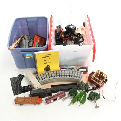 Model Train Tracks, A.F. Parts and Service Manuel with Other Train Parts
