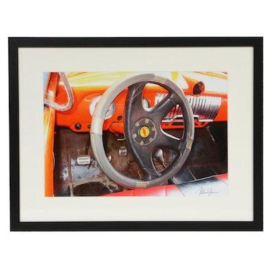 Helmut Horn Cuban Car Steering Wheel Color Photograph
