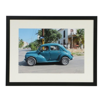 Helmut Horn Vintage Cuban Car Color Photograph