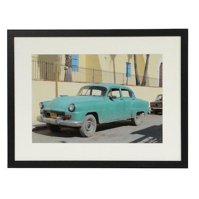 Helmut Horn Cuban Vintage Car Color Photograph
