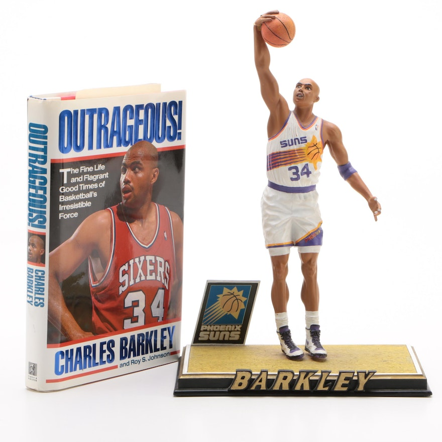"First Edition ""Outrageous!"" by Charles Barkley with Limited Edition Figurine"