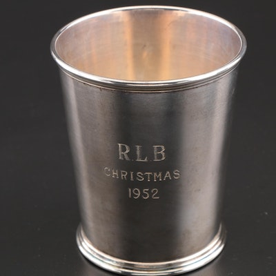 S. Kirk & Son Sterling Silver Presentational Mint Julep Cup, Engraved 1952