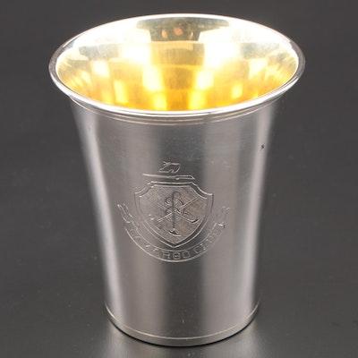 Frank Herschede of Cincinnati Sterling Presentational Julep Cup, Mid-Century