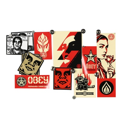 Collection of Shepard Fairey Contemporary Art Vinyl Decals