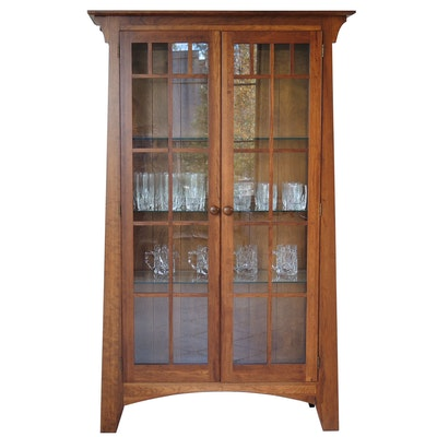"""Ethan Allen """"American Impressions"""" Illuminated Display Cabinet"""