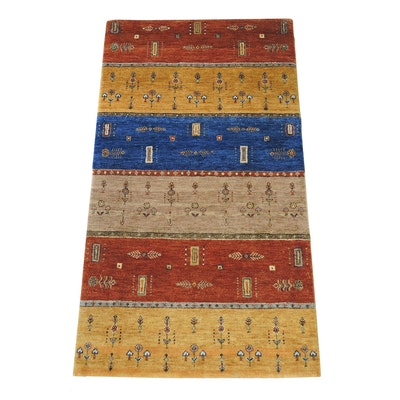 3' x 5'  Gabbeh Handknotted Accent Rug