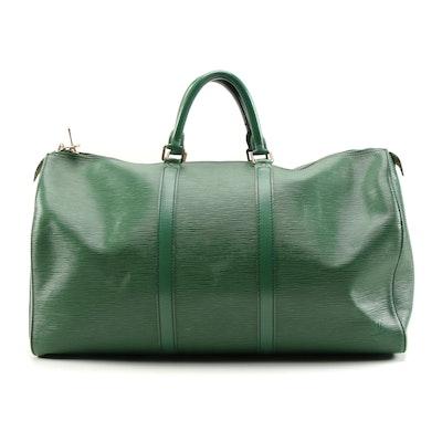 Louis Vuitton Borneo Keepall 50 Duffle Bag