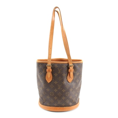 Louis Vuitton Monogram Canvas Petite Bucket Bag, 1980s Vintage